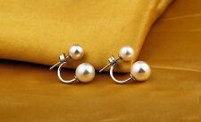 Ohrstecker Ohrring Perle Perlen und Sterling Silber 925