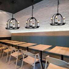 Pendant Light Vintage Industrial Iron Ceiling E12 Light For Bar Cafe Living Room