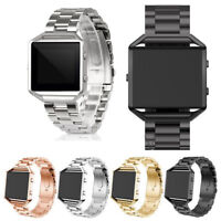 Genuine Stainless Steel Wrist Strap Watch Band +Metal Frame For Fitbit Blaze