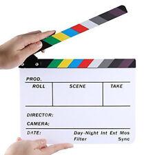 Movie Film TV Clapper Board Slate Dry Erase Clapboard Director Cut Action Scene