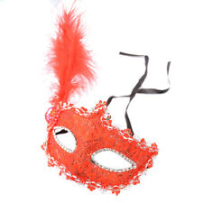 Stunning Masquerade Lace Masks Eye With Feather Christmas Party Beautiful Sexy