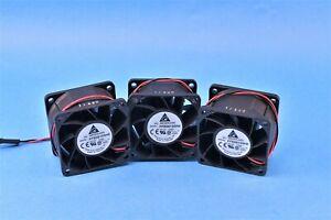3 Delta Fan Tubeaxial  Square 60mm x 60mm Ball 43.4 CFM 2 Wire Leads Molex Style