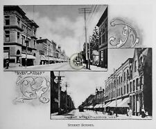 """ST.THOMAS Ontario CANADA """"Streets Scenes"""" in 1906 Reprint on Pro Glossy Paper"""