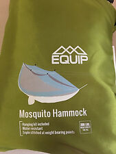 HUNTING HIKING FISHING DORM HANG Netted Hammock, MAX 300lb Green MSRP $52 EQUIP1