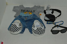 Build A Bear Boy Clothing~Really COOL Dude~Shirt~Jeans~Guitar~Glasses~Shoes~BR