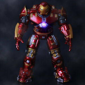 2019 Marvel Avengers Endgame LED Iron Man HULKBUSTER Action Figures PVC Toy Doll