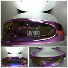 SPACE ROBOT RETRO PARTY RAVE COSTUME CYCLOP FUTURISTIC SUN GLASSES Purple Chrome