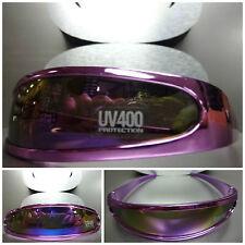 SPACE ROBOT RETRO PARTY RAVE COSTUME CYCLOP FUTURISTIC SUN GLASSES Purple Chrome