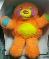 Vintage popples orange plush doll figure rare