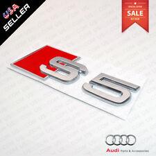 ABS Nameplate Audi S5 Silver Emblem 3D Trunk Logo Emblem Badge Decoration
