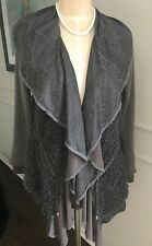 Pretty Angel  Woman's Linen Polyester Ruffle Sweater Size L