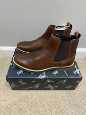 Joules Mens Bourne Leather Chelsea Boots - Dark Brown Size Adult 9