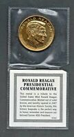 VTG 1981 RONALD REAGAN Presidential Inauguration Commemorative bronze coin, 24kt