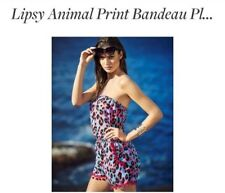 BNWT LIPSY Animal print playsuit size 6 pool party, beach, holiday . asos
