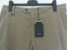PAOLO PECORA Men's Sand Cotton Stretch Cropped Trousers Italy Size 52 approx 36W
