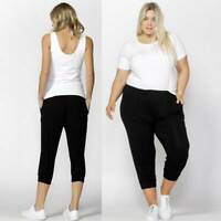 3/4 Pant Tokyo by Betty Basics Plus Sizes 10 12 14 16 18 20 22 Black Casual