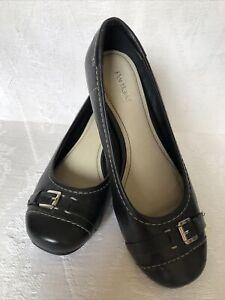 PORTLAND 'Daliah'Leather Shoe Black Size 7 As New