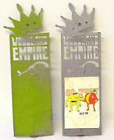 2 WOODLAND EMPIRE METAL BEER TAP HANDLES TWO WOODLAND EMPIRE BEER TAPS PULL