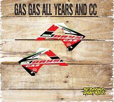 Gas gas ec 85 125 250 450 Motocross Rad Cucharadas gráficos Kit de Pegatinas-Calcomanías-MX 6