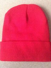 Men's Women Beanie Knit Ski Cap Hip-Hop RED Winter Warm Unisex Hat
