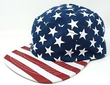 new AMERICAN FLAG FIVE-PANEL CAMPER HAT Stars&Stripes Red White Navy-Blue cap 5