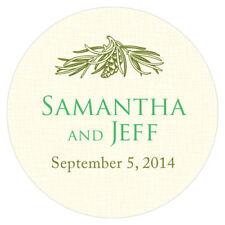 36 Evergreen Small Stickers Wedding Favor Seals