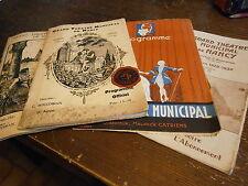Lot 4 programme grand théatre de Nancy année 1392-1930-1942-1929 Lorraine