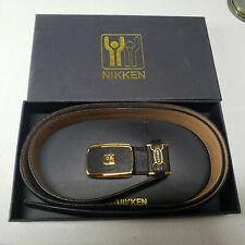 "Nikken Black Leather Magnetic Belt Adjustable ( 36"") Homeopathic Magnet Therapy"