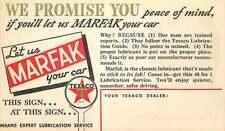 "Advertising Texaco ""Marfak"" Auto Service Reminder Postcard"