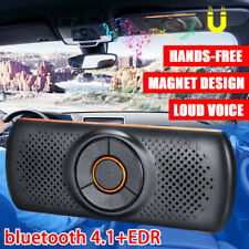 Wireless Handsfree bluetooth 4.2 In-car Speakerphone + Sun Visor Clips Drive