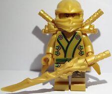 LEGO® Ninjago™ Figur aus 70503 goldener Drache / Gold Ninja Lloyd + 3 Waffen Neu