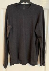 Men's LULULEMON Gray Surge Warm Long Sleeve Pullover Top L