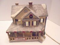 5) Lemax Dickensvale Merry Christmas House Hills Dept Store Vintage 1995