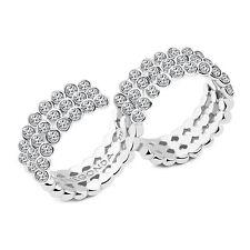 Pianegonda anello ECLIPSIS argento 925 54 topazi bianchi mis 16 PEC37
