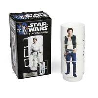 Star Wars - Set de 3 Tazas Desayuno Apilables Capacidad 1 L. Apilables NOVEDAD