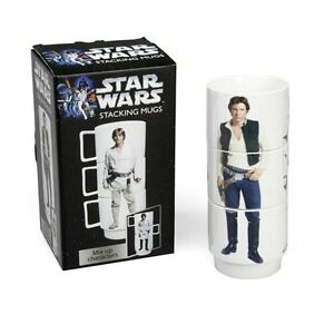 Star Wars - Set Of 3 Cups Breakfast Stackable Capacity 33.8oz Stackable Novelty