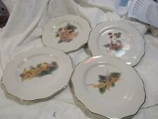 "Disney China Disney Characters Gold Trim 4 plates 9"""