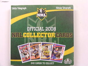 2008 Rugby League Telegraph set of 240 cards & album