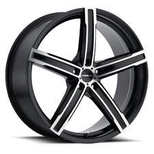 17X7 Vision 469 Boost 5x110 ET38 Black Machined Face Wheels (Set)