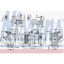 Nissens Kompressor, Klimaanlage VW . Chrysler Grand Voyager V. Dodge 890169