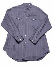 Guess Jeans Pearl Snap Shirt Gray Size Large Vintage 90s