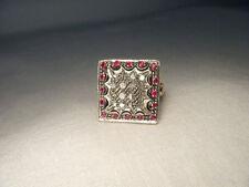 Gorgeous Antique Estate 14K Pink Rose Gold Diamond Ruby Filigree Ring