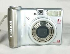 Canon PowerShot A530 Digital Camera 5MP 4X Optical Zoom Tested Works Silver