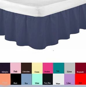 New Luxury Valance fitted Sheets in size Single,Double,King & Super King , 4FT