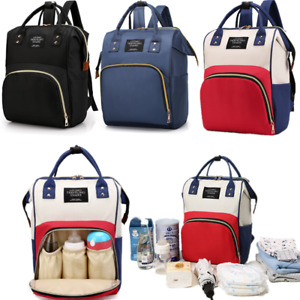 Large Mummy Nappy Diaper Changing Bag Baby Travel Nursing Backpack Portable JH