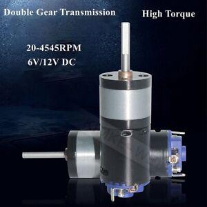 25mm 6V/12V DC Double Gear Transmission High Torque Gear Box Electric Motor New