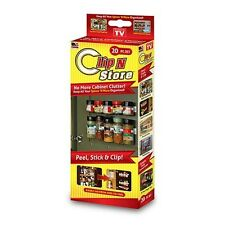 Clip N Store Peel & Stick spice rack AS SEEN ON TV NEW!