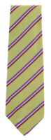 "New Finamore Napoli Green Striped Tie - 3.25"" x 57"" - (TIESTRX233)"