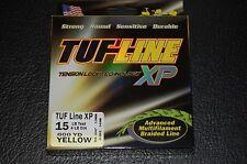 TUF-Line XP Yellow 15 lb Test 600 yards Multifil Braid Fishing Line XP15-600YE