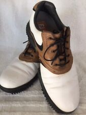 FootJoy Contour Series Mens 9 1/2 Golf Shoes White W/ Brown Leather